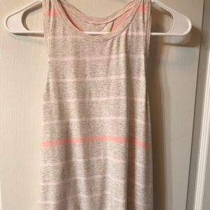Lululemon stretch cotton shirt with open tie back
